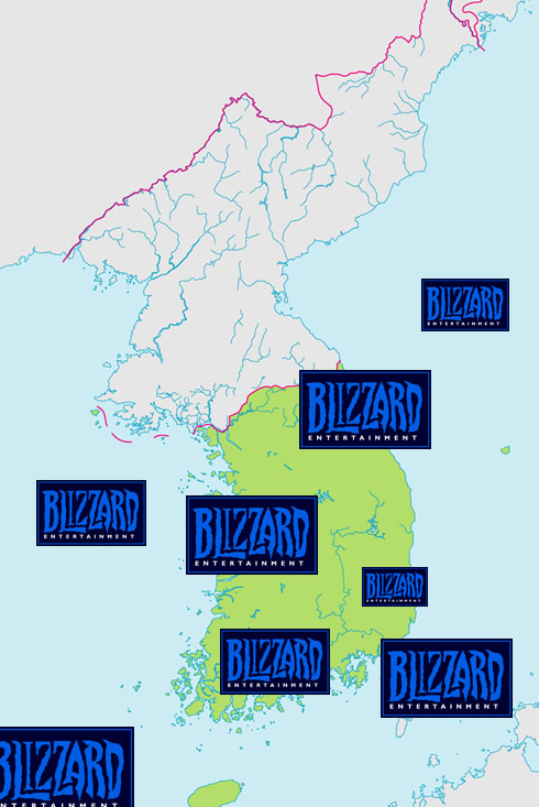 blizzard attacks korea
